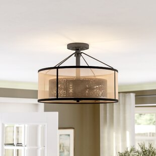 Dailey 3-Light Semi Flush Mount by Brayden Studio