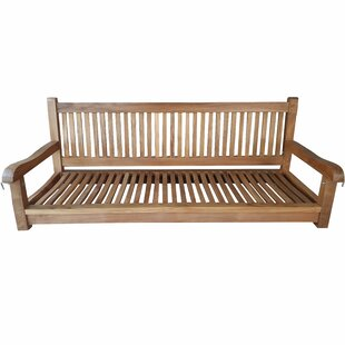 Brannan Teak Wood Elzas Double Outdoor Porch Swing by Rosecliff Heights