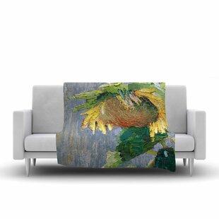 Best Choices Carol Schiff Lonely Sunflower Nature Fleece Blanket ByEast Urban Home