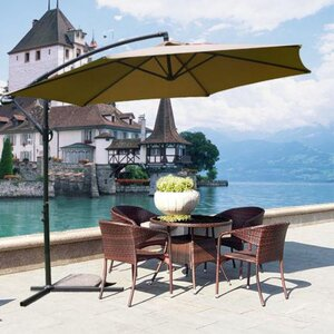 Mcombo 10' Cantilever Umbrella