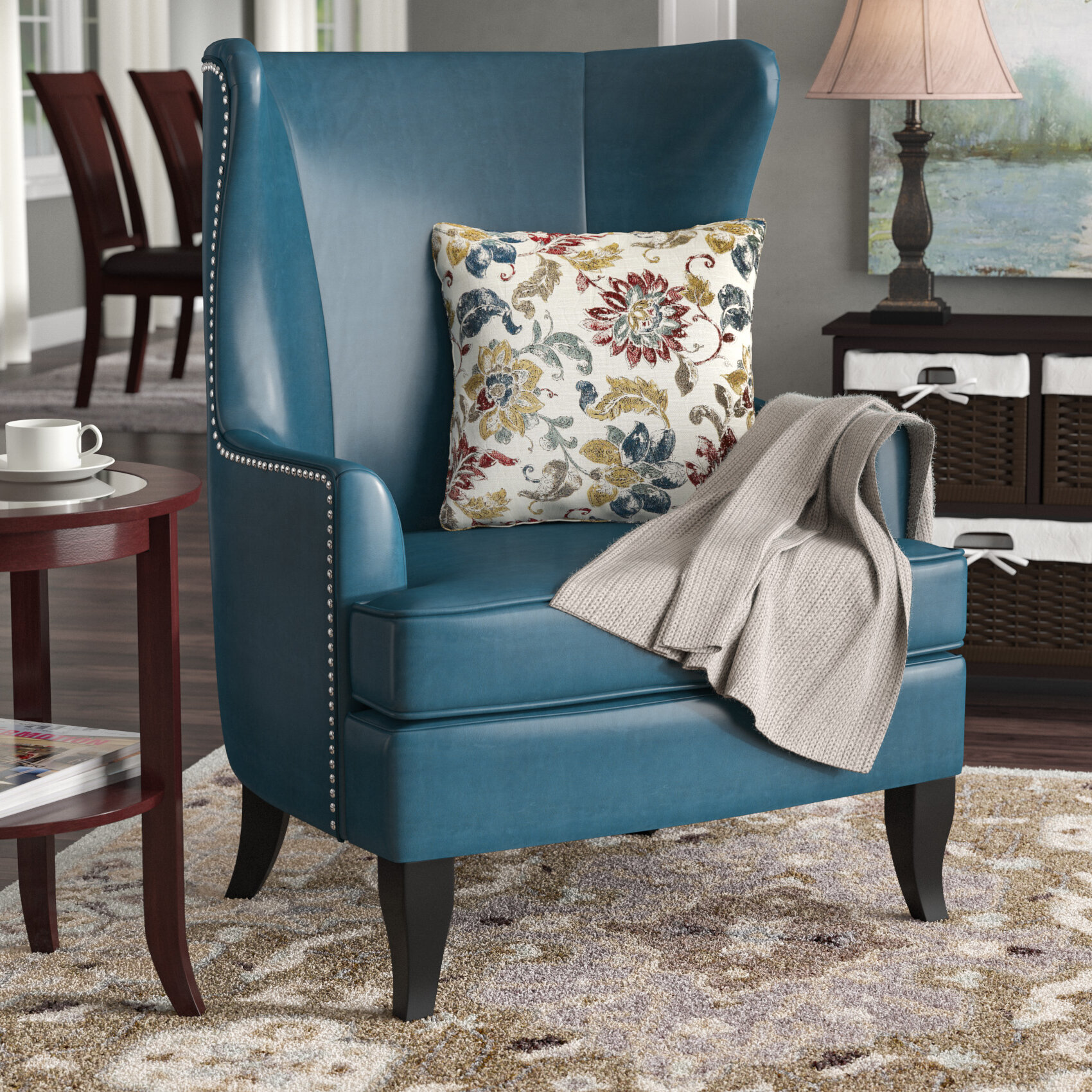 Alcott Hill Roundtree High Wingback Chair U0026 Reviews | Wayfair