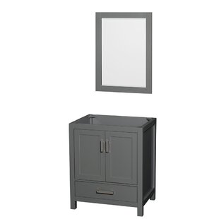 Sheffield 30 Single Bathroom Vanity Base with Mirror by Wyndham Collection
