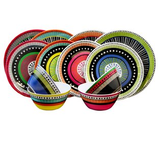 Eloy 12 Piece Melamine Dinnerware Set, Service for 4