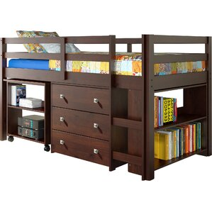 Zechariah Twin Low Loft Bed with Storage by Viv + Rae