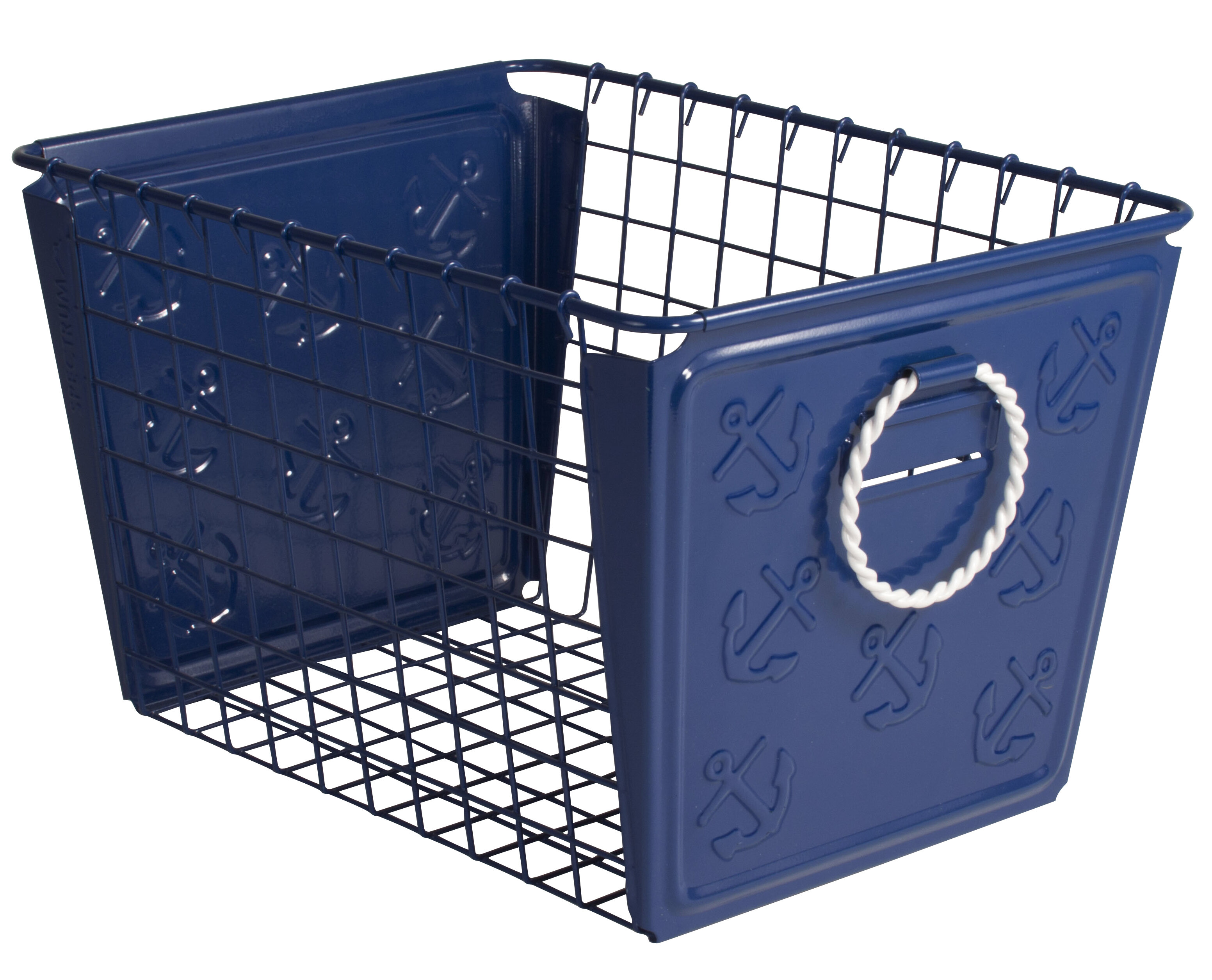 sc 1 st  Joss u0026 Main & Nautical Metal Basket | Joss u0026 Main