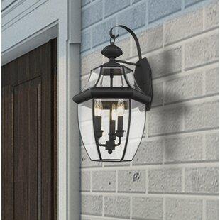 Gustavson 3-Light Outdoor Wall Lantern By Three Posts Outdoor Lighting