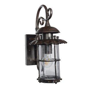 August Grove Robertson 1-Light Outdoor Wall Lantern