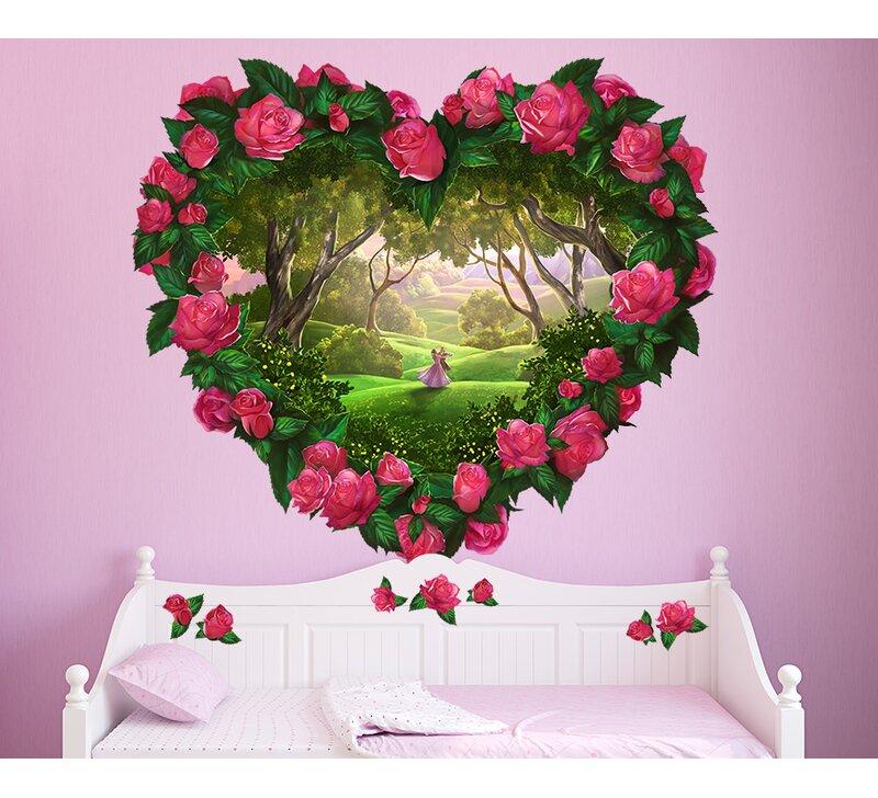 Wall Ah Heart Fantasy Flowers Wall Decal Wayfair