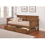 Alcantara Twin Daybed with Trundle by Loon Peak®