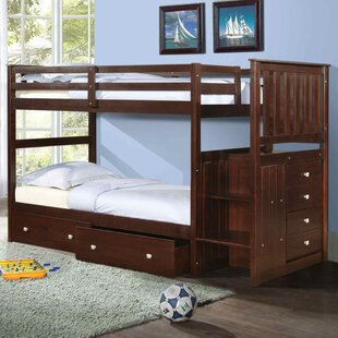 Inexpensive Oliverson Twin over Twin Bunk Bed with Storage by Harriet Bee Reviews (2019) & Buyer's Guide