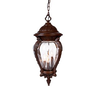 Reviews Pursell 3-Light Outdoor Hanging Lantern By Charlton Home