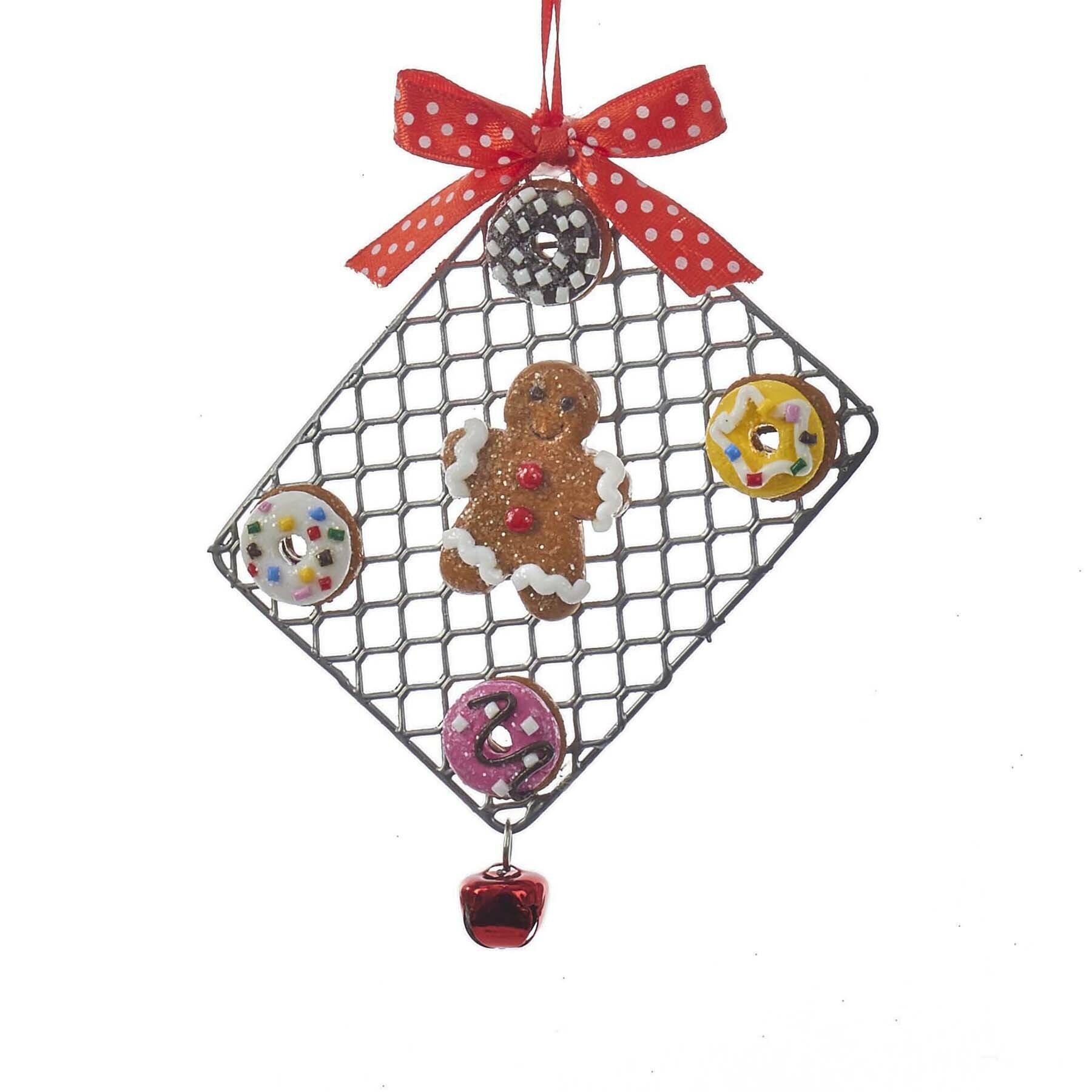Gingerbread Man On Tray Hanging Figurine Ornament Reviews Birch Lane