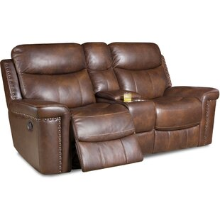 Derrek Leather Reclining Loveseat