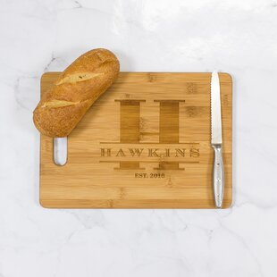 Hawkins Personalized Bamboo Cutting Board By Woodums