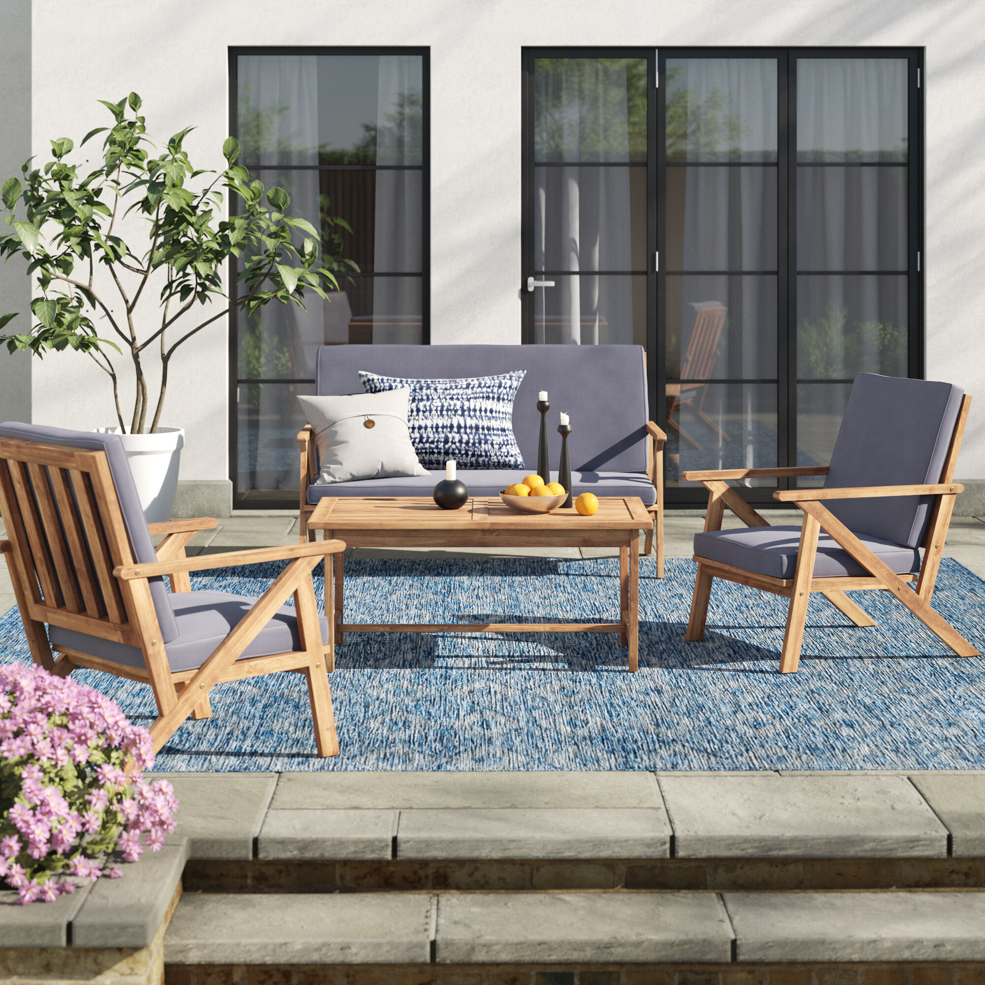 Casual Fabric Sofa Patio Conversation Sets You Ll Love In 2021 Wayfair