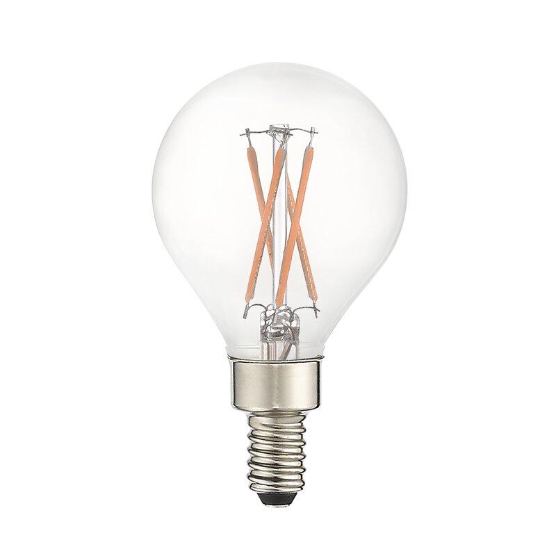 Jtechs Inc 40 Watt Equivalent G16 5 Led Dimmable Light Bulb Warm White 2700k E12 Candelabra Base Wayfair