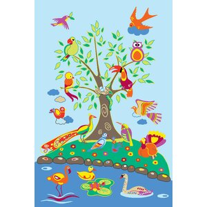 Fun Time Birds of Paradise Kids Rug