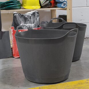 Round Flexible Plastic Organiser Box (Set Of 2) By Rebrilliant