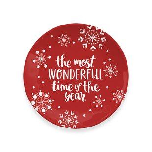 Holiday Cheers Melamine Cookie Platter
