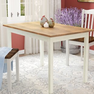 Reagan Wood Dining Table August Grove