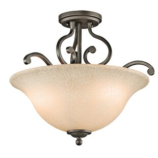 Haffenreffer 3-Light Semi Flush Mount by Alcott Hill