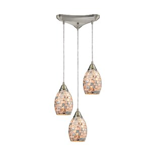Roehampton 3-Light Pendant by Beachcrest Home