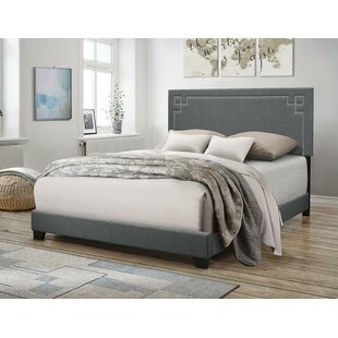 Wabansia Fabric Queen Upholstered Panel Bed