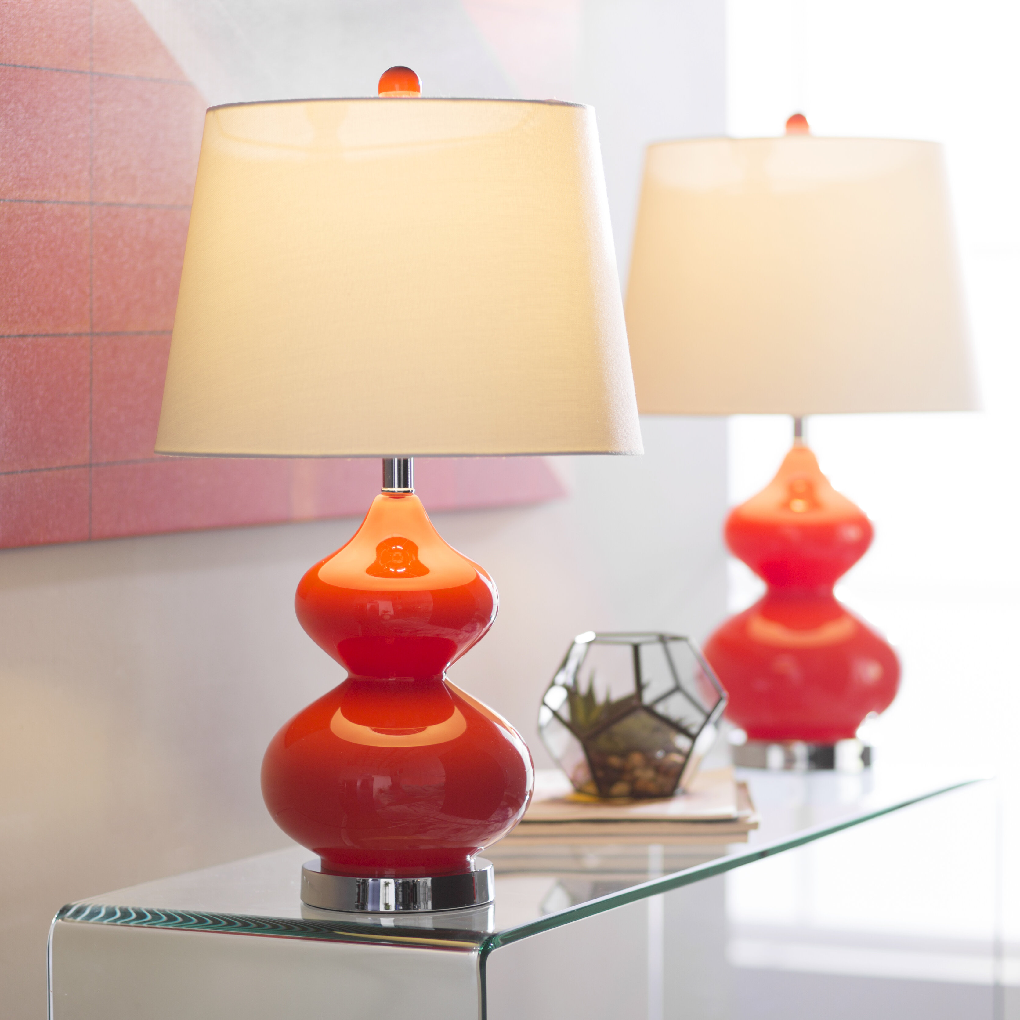 Orange Table Lamps You Ll Love In 2020 Wayfair