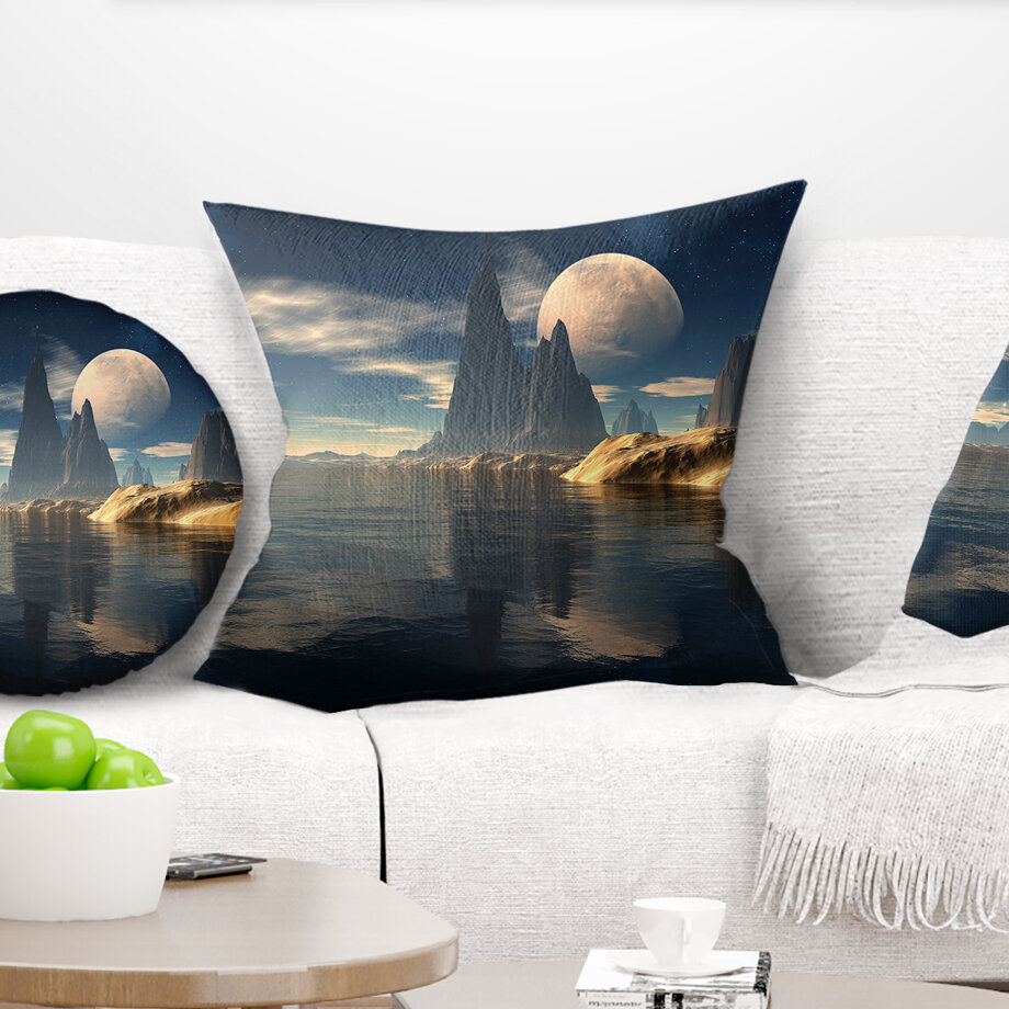East Urban Home Photography Antara Alien Planet Throw Pillow Wayfair
