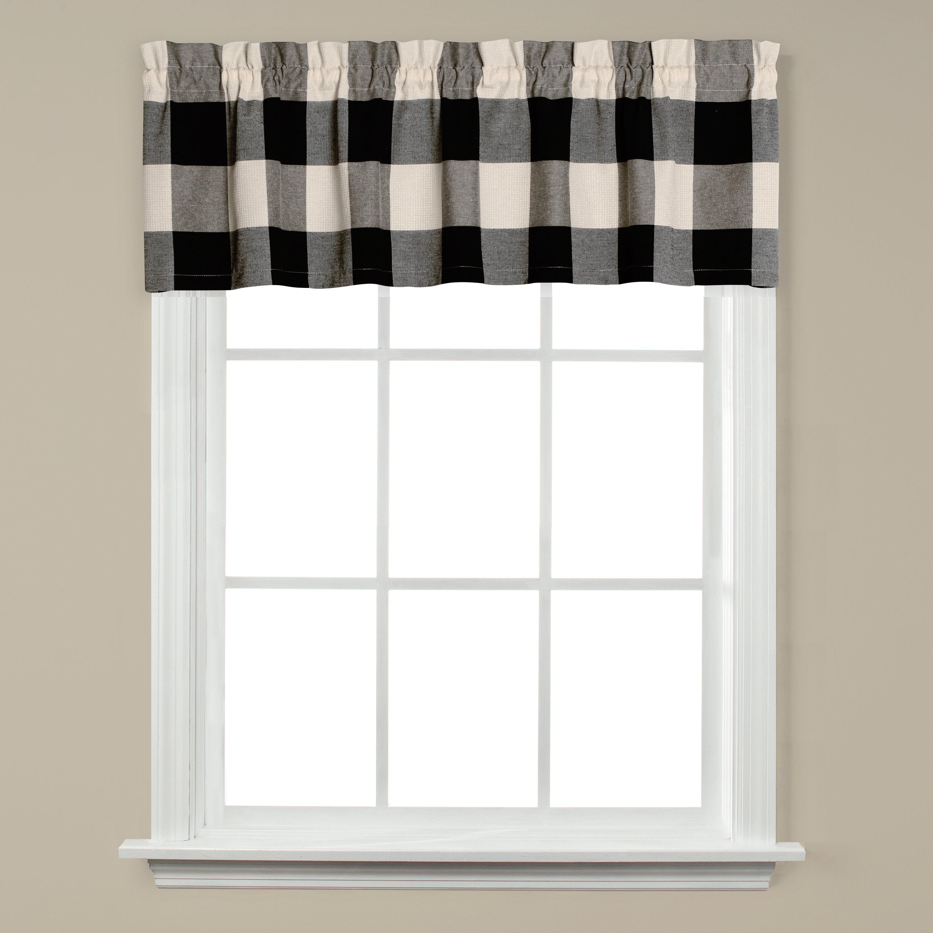 Black Valances Kitchen Curtains You Ll Love In 2021 Wayfair