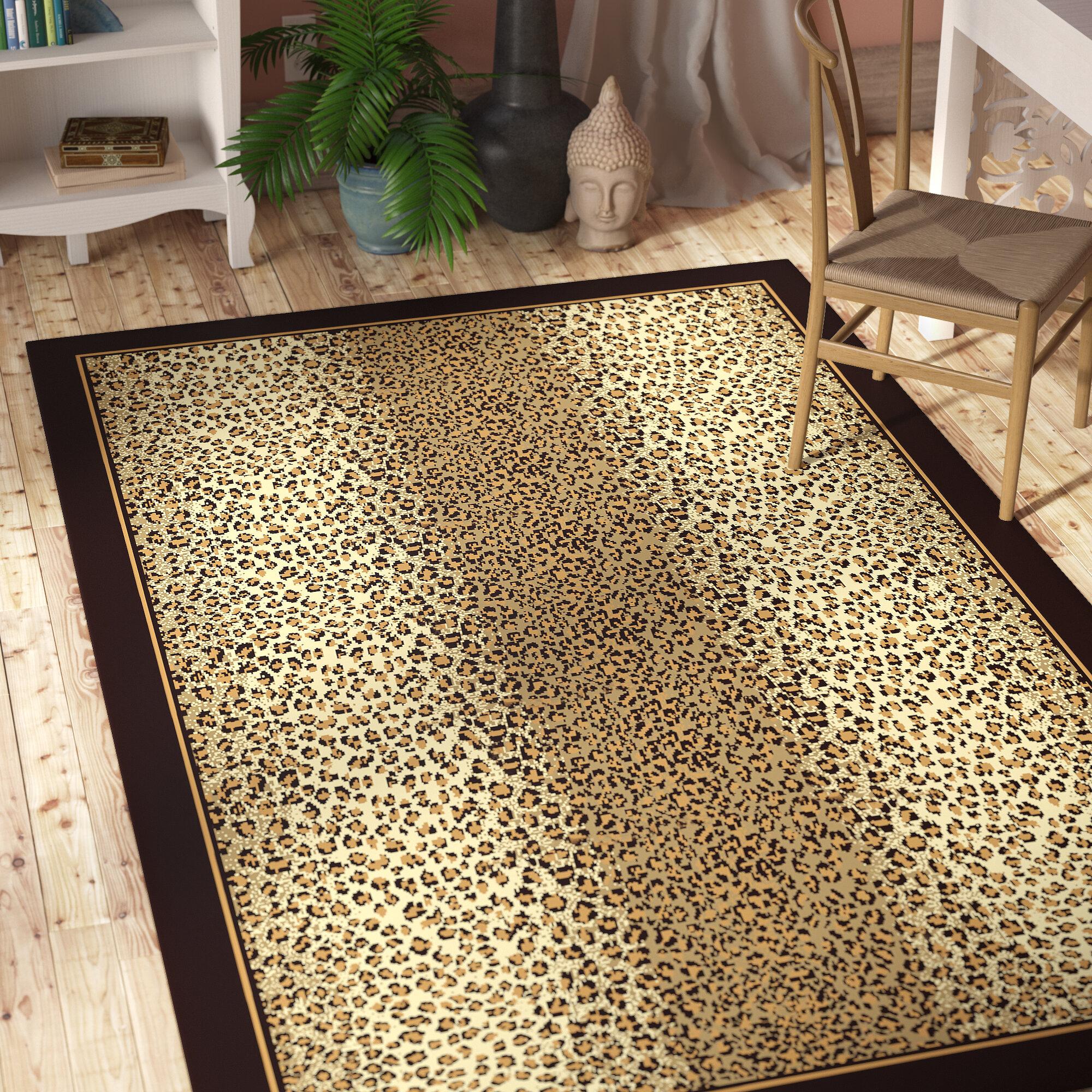 Bloomsbury Market Marlette Cheetah Animal Print Leopard Brown Beige Indoor Outdoor Area Rug Reviews Wayfair