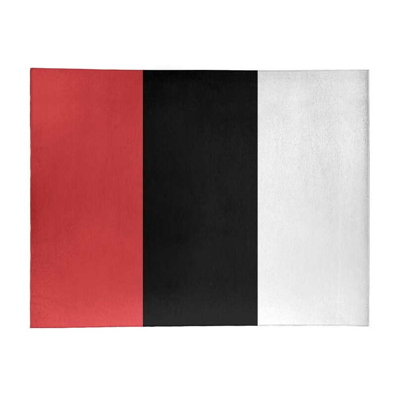 East Urban Home Striped Red Black Area Rug Wayfair