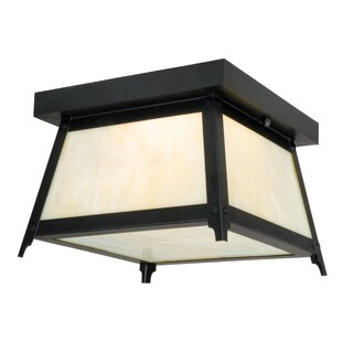 Loon Peak Porras 2-Light Outdoor Flush Mount