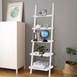 Braegyn 74.8'' H x 22'' W Solid Wood Ladder Bookcase by Latitude Run®