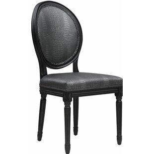 Willa Arlo Interiors Ilda Croc Side Chair (Set of 2)