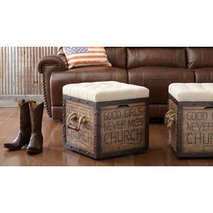 Mclaughlin Tufted Storage Ottoman by August Grove