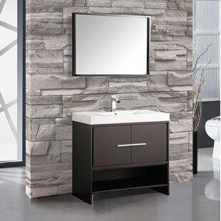 Peirce 36 Single Bathroom Vanity Set with Mirror by Orren Ellis
