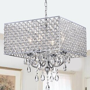 House of Hampton Holford 4-Light Crystal Chandelier