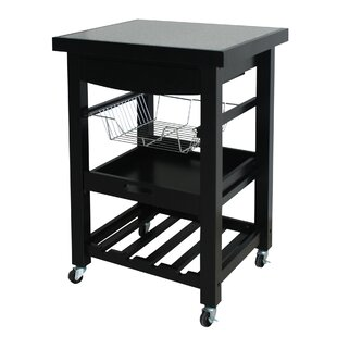 Izabella Compact Kitchen Cart with Granite Top