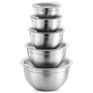 Premium 5 Piece Stainless Steel Mixing Bowl Set