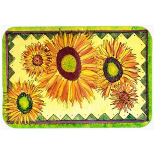 Flower Sunflower Kitchen/Bath Mat
