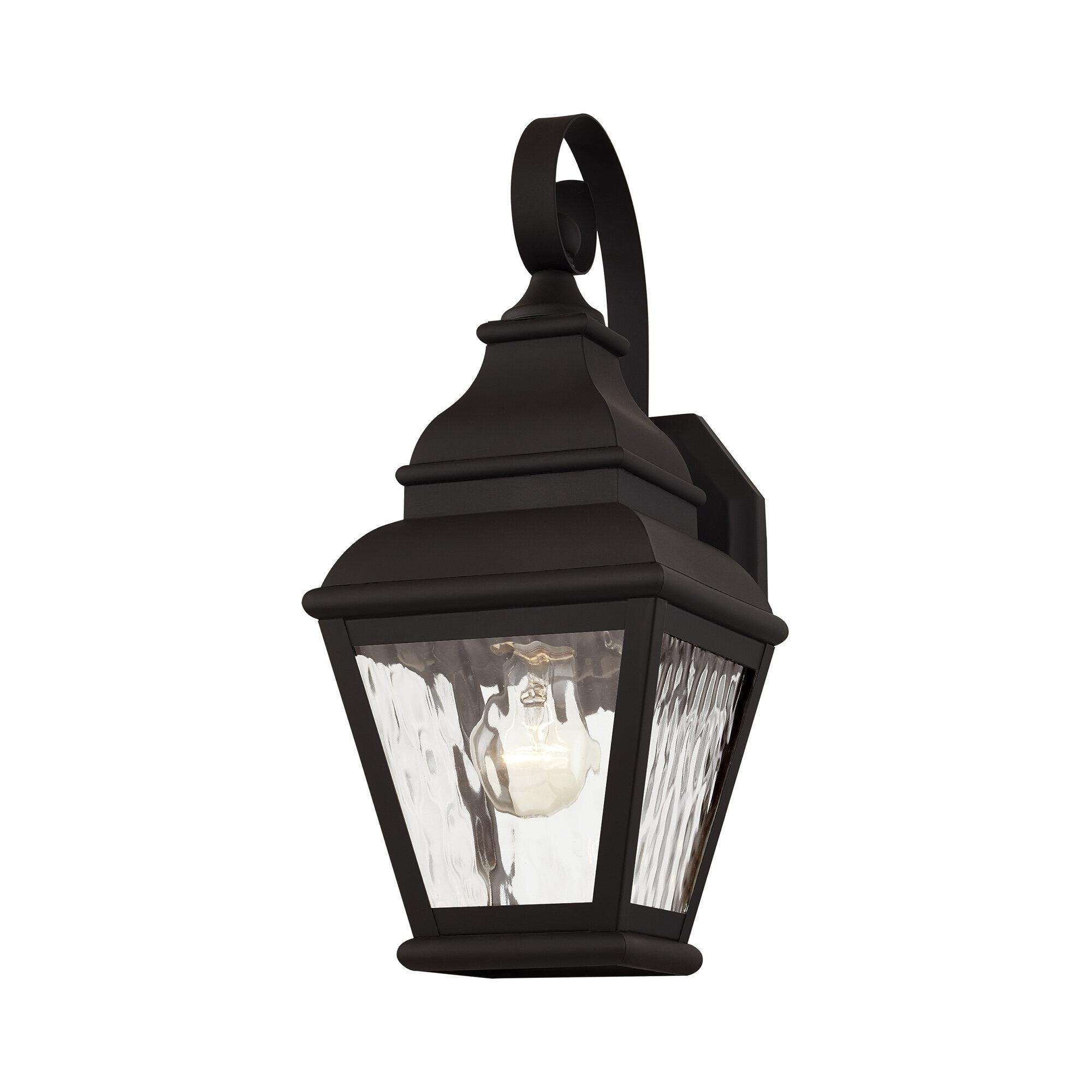 Charlton Home Acadia 1 Bulb 15 5 H Outdoor Wall Lantern Wayfair
