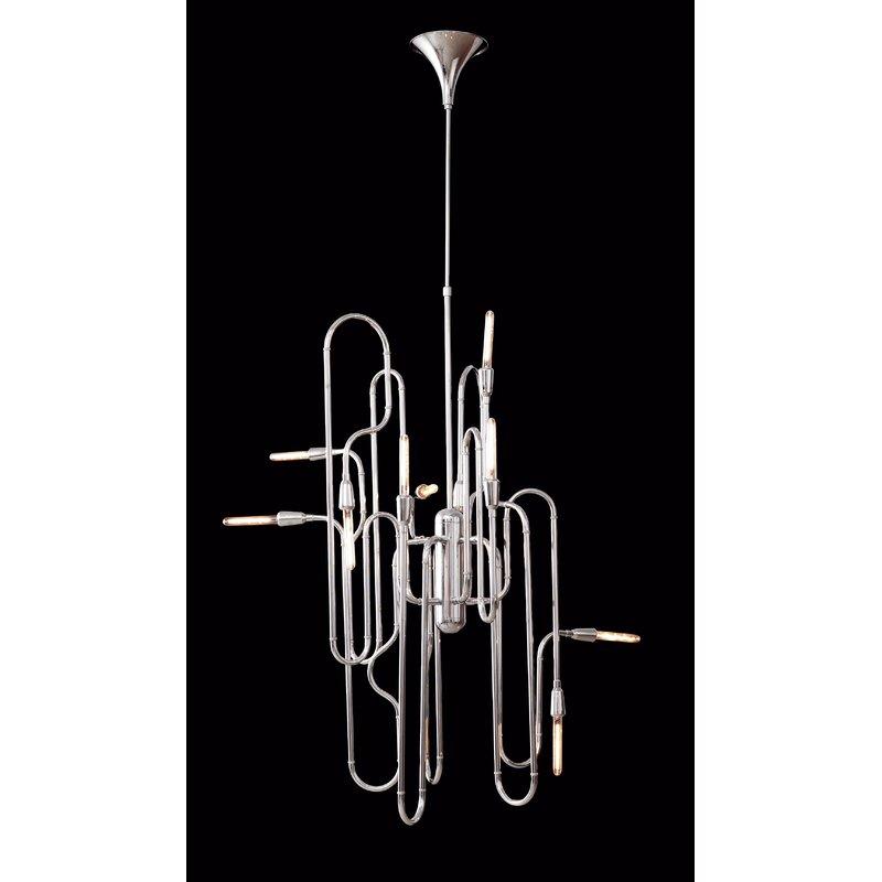 Orren Ellis Guttenberg 10-Light Geometric Chandelier