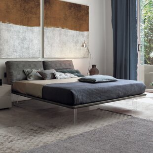 YumanMod Piuma Upholstered Panel Bed