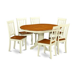 Aimee 7 Piece Extendable Solid Wood Dining Set August Grove