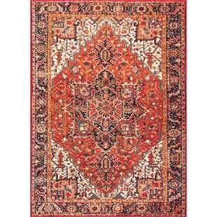 Massie Orange Indoor/Outdoor Area Rug