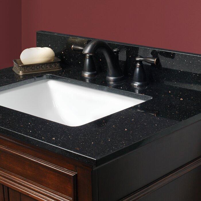 Peachy Granite 61 Double Bathroom Vanity Top Beutiful Home Inspiration Semekurdistantinfo