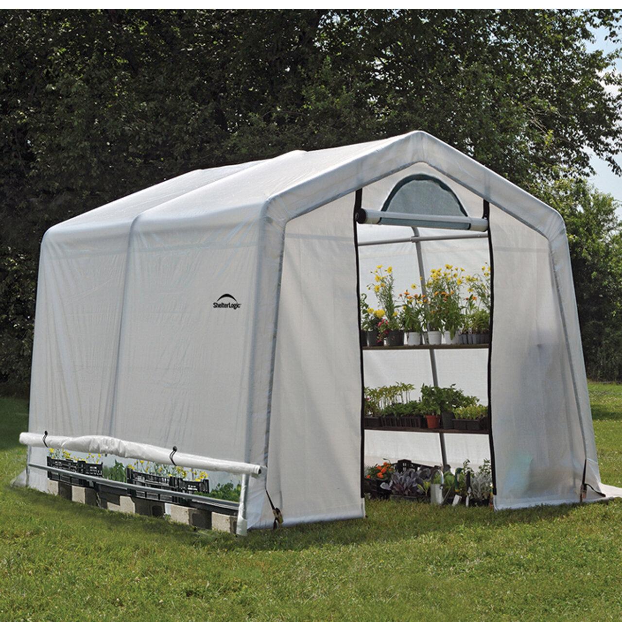 Shelterlogic Growit 9 W X 10 D Hobby Greenhouse Reviews Wayfair Growit backyard greenhouse reviews