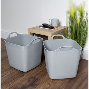 Flexi-Square 25L Graduated Tub Laundry Basket (Set Of 2) By Rebrilliant