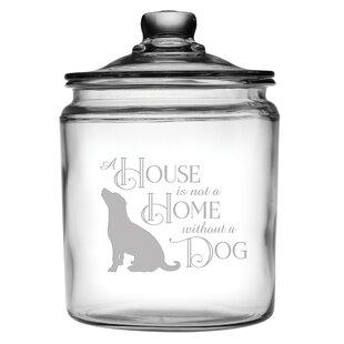 House Home Dog Half Gallon 2 qt. Pet Treat Jar
